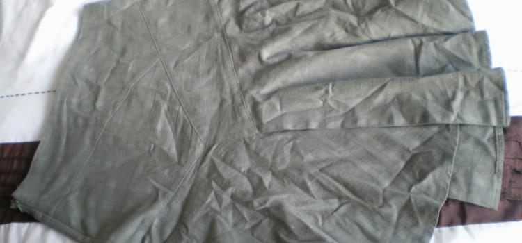 Prasowanie zmiętej tkaniny